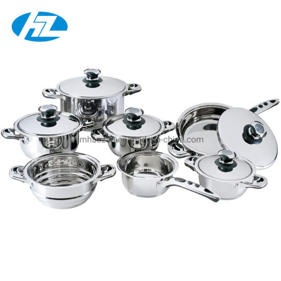 Heavy Stainless Steel 12PCS Cooking Pots Set