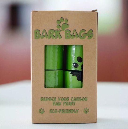 Custom Logos Tie Handle Biodegradable Pet Waste Bag with Dispenser En13432 / Bpi Ok Compost Home ASTM D6400 Certificates