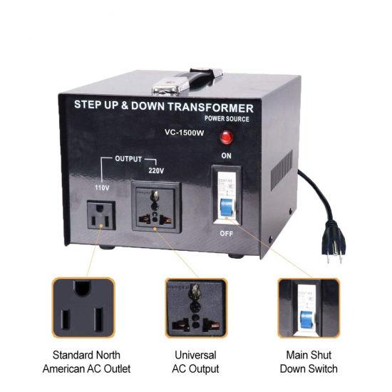 220V 110V 1500W Voltage Converter Step up and Down Transformer