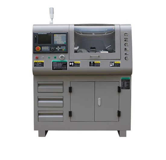 CNC210 small CNC lathe machine for school education and hobby use