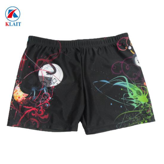 d36eb4b39b8e8 China Custom Sublimation Men′s Print Polyester Swim Trunks - China ...