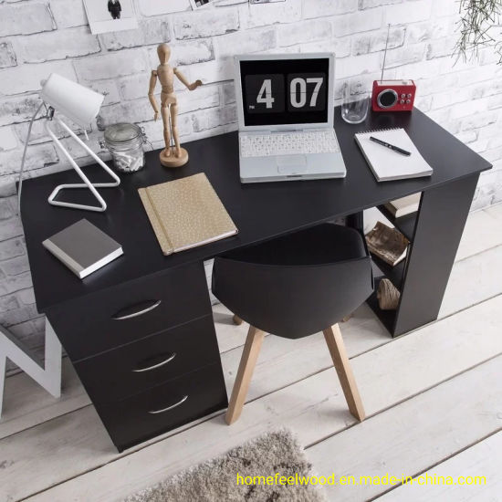 Small Home Laptop Desk Computer Desk with Shelves (HF-WF04081) pictures & photos