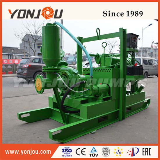 "Yonjou Yp 6""Inch 8""Inch Diesel Engine Drive Vacuum Priming Assisted Well Point Dewatering Pump for Mining/Industry/Construction pictures & photos"