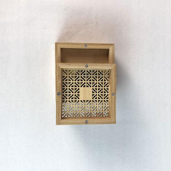 Wood Handmade Craft Incense Stick Holder Inserted Wooden Incense Burner Box