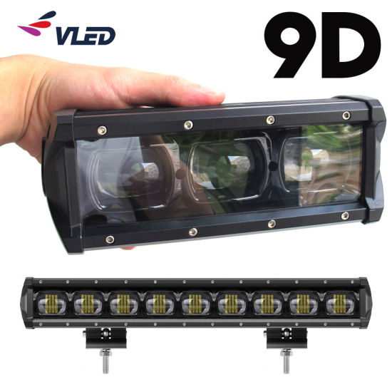 Ce EMC 9d Single Row Spotlight Projector Lens Car Auto Lamps LED Lightbar Light Bar for Offroad Truck