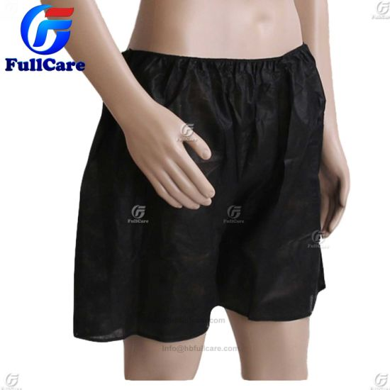 Black Adult Disposable Underpants for Travel