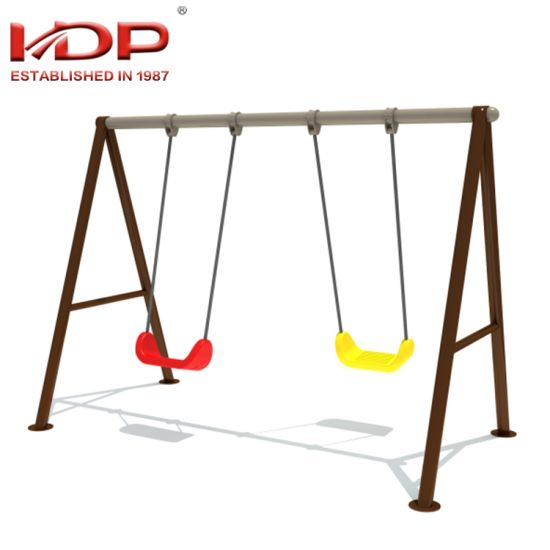 China 2018 Most Popular Children Outdoor Playground Two Seat Swing