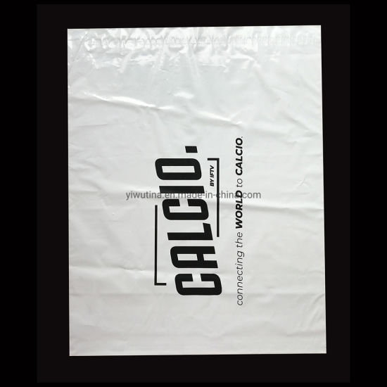 35*45cm Self Adhesive Logo Printed Biodegradable Black Poly Post Shipping Packing Custom Plastic Parcel Bag for Express