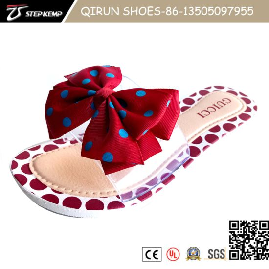New Fashion Butterfly Tie Ladies Slipper, Air Blowing Sandals 20s2026