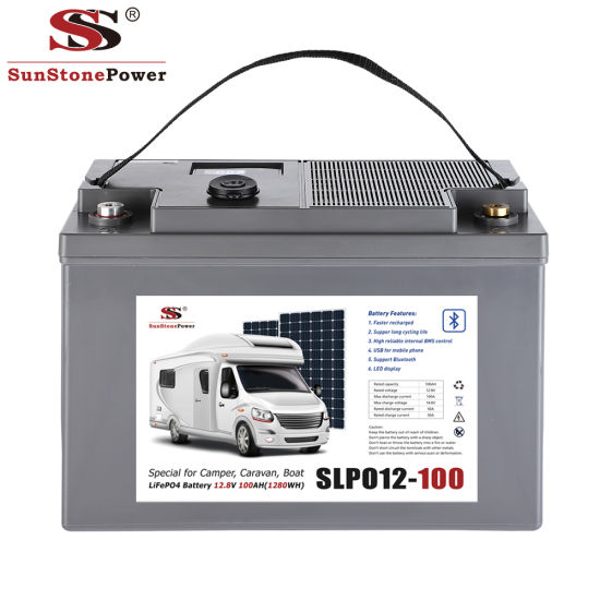 Rechargeable 12V 100ah Lithium Battery for Solar Storage System