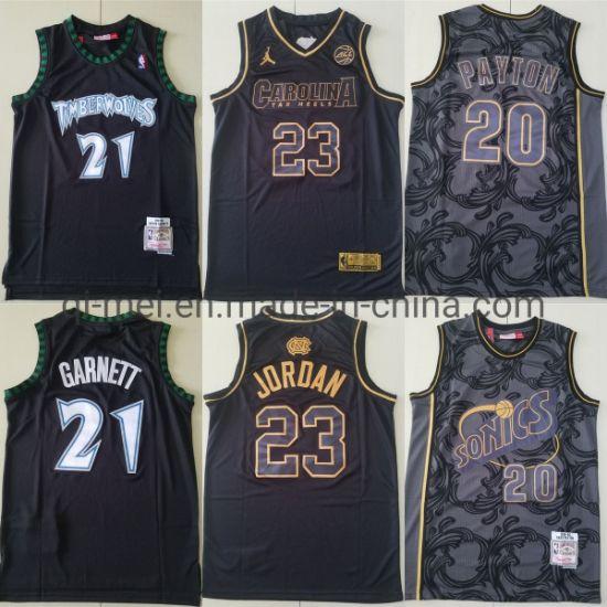 Timberwolves Kevin Garnett Sonics Payton Carolina Jordan Limited Basketball Jerseys