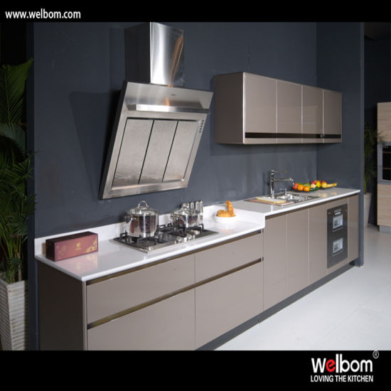 New Design of High Glossy Customized Lacquer Kitchen Cabinet pictures & photos
