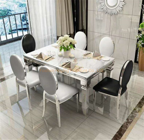Modern Furniture Customize Size Coffee Appearance High Edge Unique Dining Table in Stock
