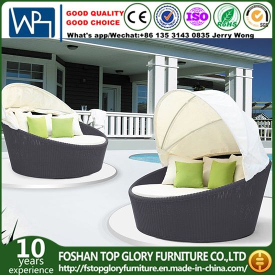 Outdoor Beach Pool Garden Furniture PE Rattan Sunbed Disassemble Daybed  (TGLU 08)
