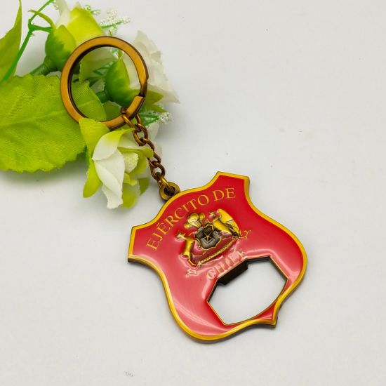 Factory Custom Metal Craft Epoxy Beer Bottle Opener Personalized Keychain Decoration Multifunction Opener for Souvenri Gift