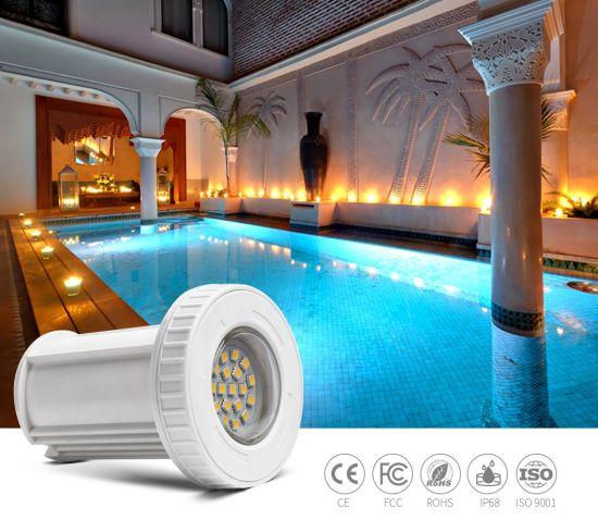 3W 12V Mini Plastic Material IP68 Waterproof Underwater LED Swimming Pool Light
