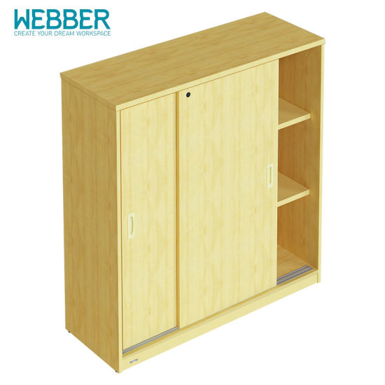 New Design Wooden Bookcase Flat File Cabinet Office Furniture with Door pictures & photos