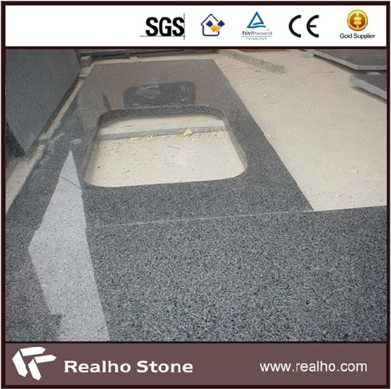 China G654 Dark Grey Granite L Shape Kitchen Countertops Prices