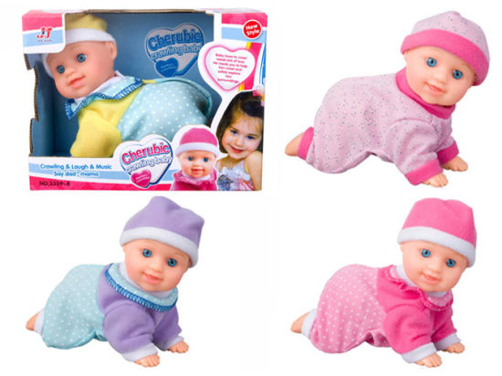 Plastic Battery Operated Baby Doll Crawl Doll Toy (H5740039) pictures & photos
