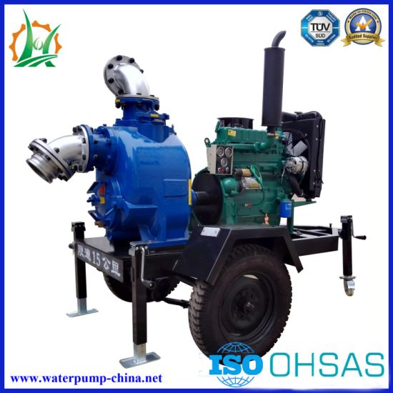 Self-Priming Diesel Engine Sewage/ Trash Non Clogging Centrifugal Water Pump pictures & photos