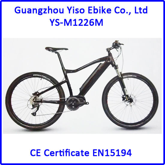 Electric Mountain Sport E Bike with Bafang Second Generation MID Motor
