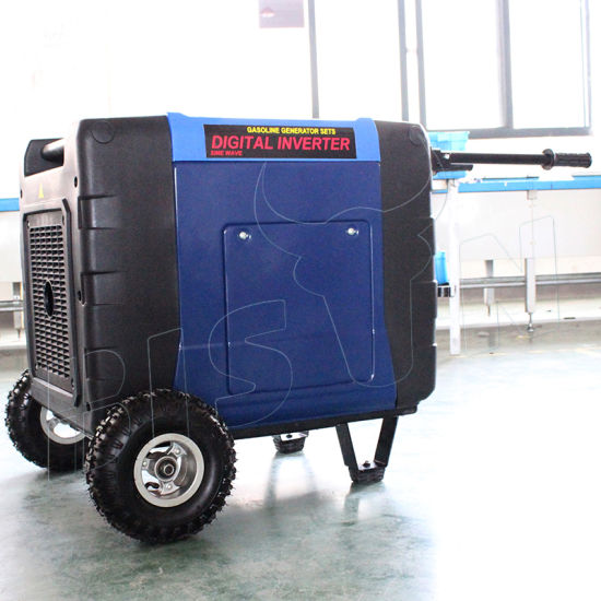 Bison (China) BS6300X OEM Factory 6 3kw 188f Engine 220V Digital Gasoline  Electric Start Inverter Generator