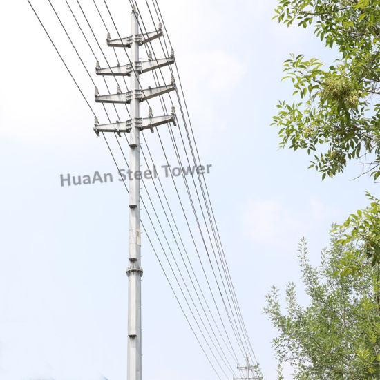 Electric Power Transmission Steel Tube Monopole Tower