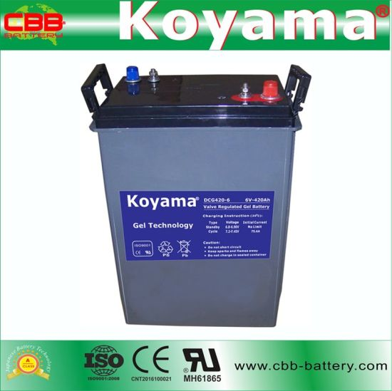 Factory Price Electric Boat Deep Cycle Battery 6V 420ah pictures & photos
