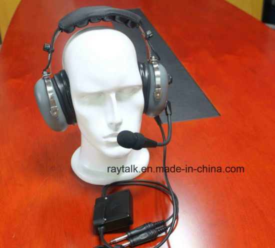 586c6c988b2 Anr Aviation Headset Active Noise Cancelling Pilot Headset with flexible  Boom Microphone pictures   photos