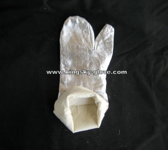 Heat Resistant Aluminum Foil Safety Glove with Knitted Fabric Liner pictures & photos