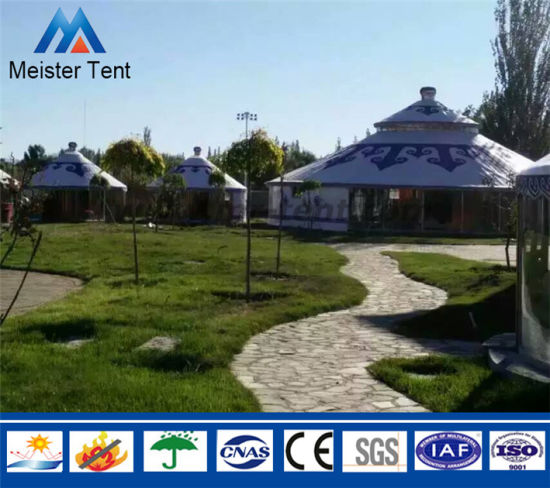 White Canvas Camping Resort Restaurant Mongolian Yurt for Living pictures & photos