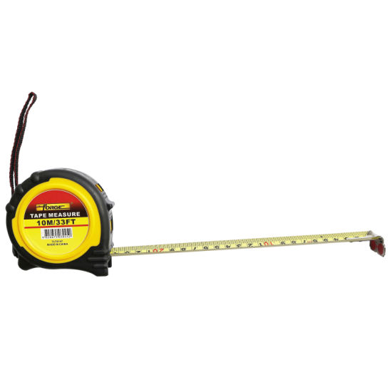 10m Steel Tape Measure with Nylon Coated Dual Blade and Magnetic Hook pictures & photos