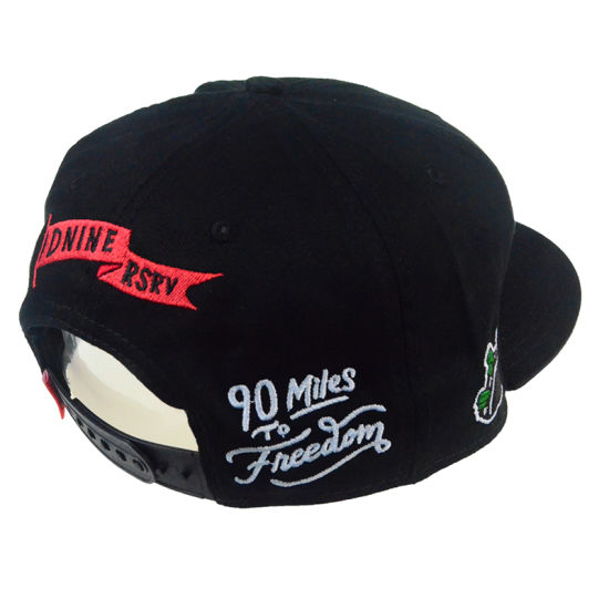 Custom 3D Embroidery Black PU Fashion Sports Snapback Cap Man Hats pictures & photos