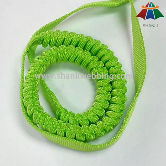 1 Inch Lime Green Elastic PP Webbing for Hands Free Runing Dog Leashes