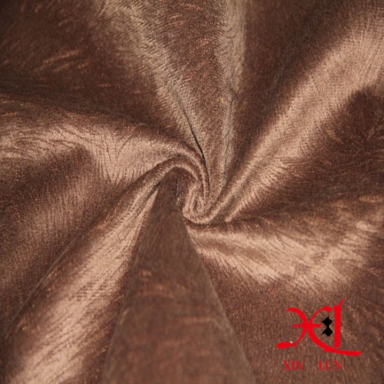 Upholstery Fabric Polyester Suede Velvet Sofa Fabric Curtain Fabric pictures & photos