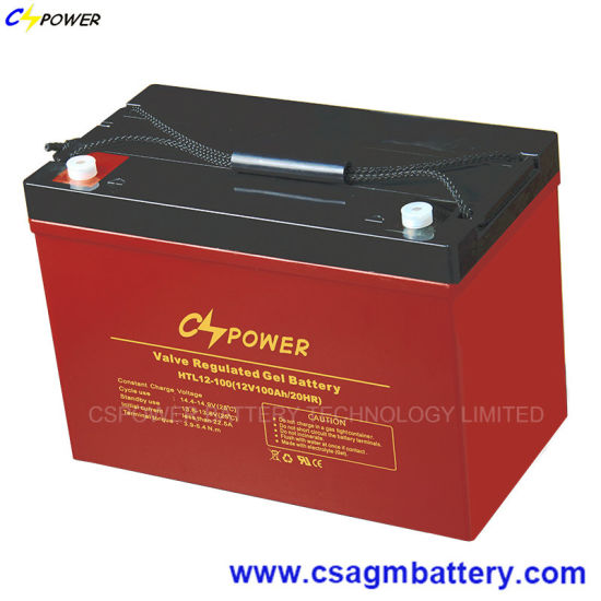 Long Life High Temperature Solar Gel Battery 12V100ah pictures & photos