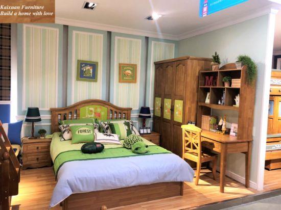 Solid Wood Kids Furniture in Children Bed