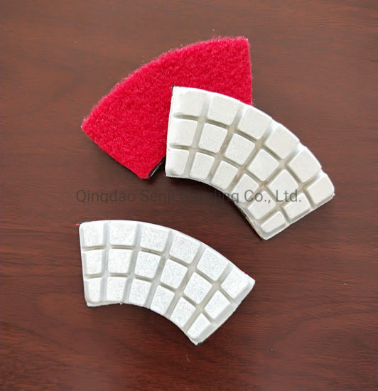 Fan-Shaped Werkmaster Diamond Tools Floor Polishing Pad for Stone and Concrete Grinding