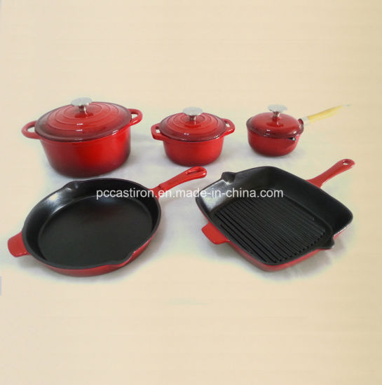 26cmx26cm Enamel Cast Iron Grill Pan Supplier From China pictures & photos