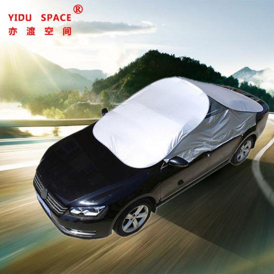 Factory Wholesale Waterproof Sunproof Portable Universal Folding Car Umbrella