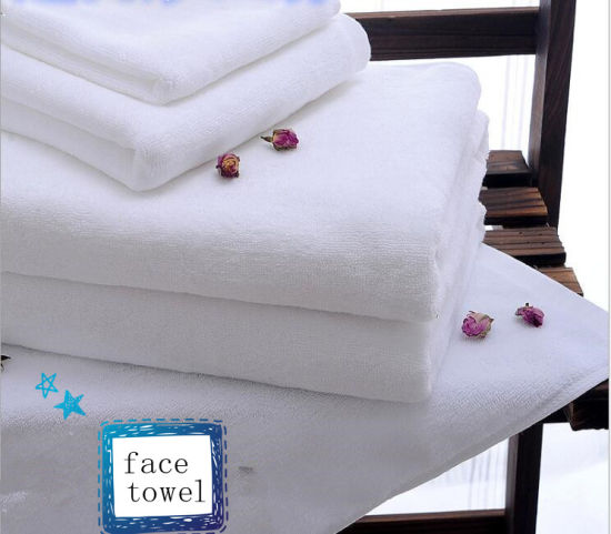 100% Cotton Hotel Face Towel pictures & photos