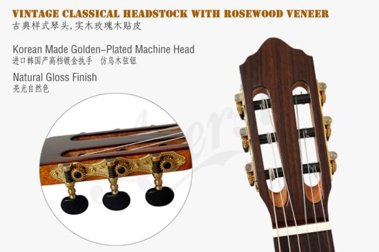 Handmade Good Musical Instrument Bowl Cutway Classical Guitar for Sale pictures & photos