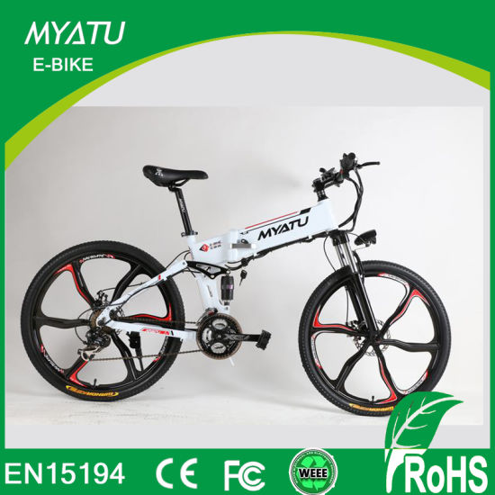 ef189237c6f Lithium Battery Powered Mountain Electric Folding Bike with Magnesium Alloy  Wheel pictures & photos