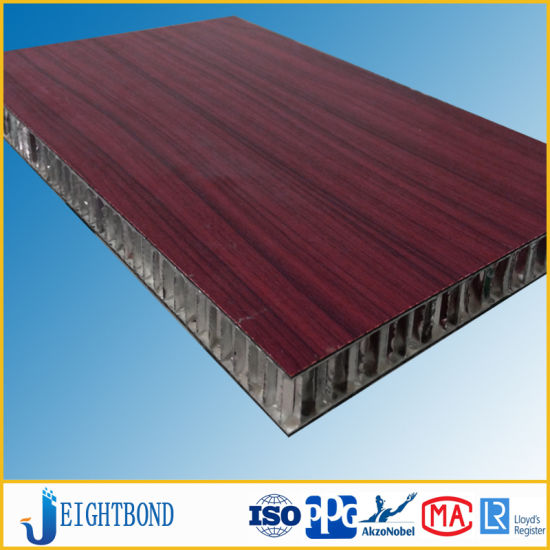Beautiful Wood Grain HPL Aluminum Honeycomb Panels for Boat Decoration pictures & photos