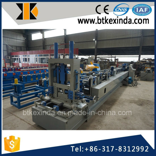Kxd Full Automatic Cold Steel Profile CZ Purlin Roll Forming Machine pictures & photos