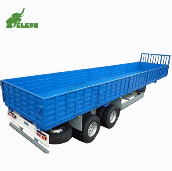 Container Cargo Loading Sidewall Removable Semi Towing Flatbed Truck Trailer