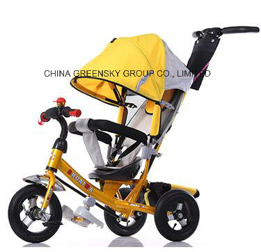 2016 New Yellow Baby Stroller Tricycle