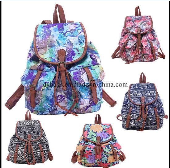 New Vintage Women′s Canvas Travel Satchel Shoulder Bag Backpack School  Rucksack pictures   photos dfe75bbda0