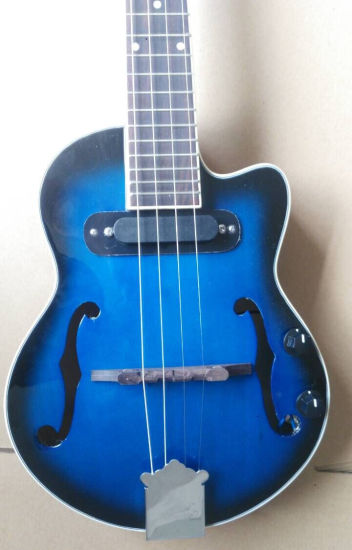 China Aiersi Blueburst Color Hollow Body Electrical Jazz Ukulele pictures & photos