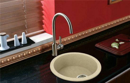 China Artificial Quartz Stone Kitchen Sink For Modern Kitchen